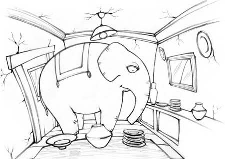 Как слон в посудной лавке